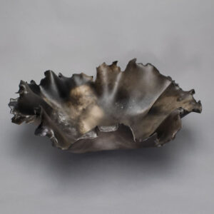 Dawson Morgan Raku Centerpiece Raku Smoke Large Oval 20x19x7