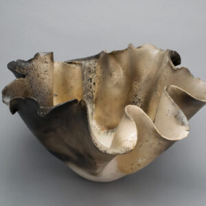 Dawson Morgan Raku Centerpiece Large Round 18x17x11