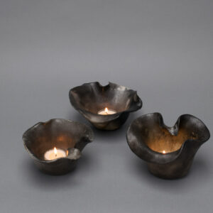 set-of-three_candle-holder_raku_smoke_round_small_elegant_5x5x3-1