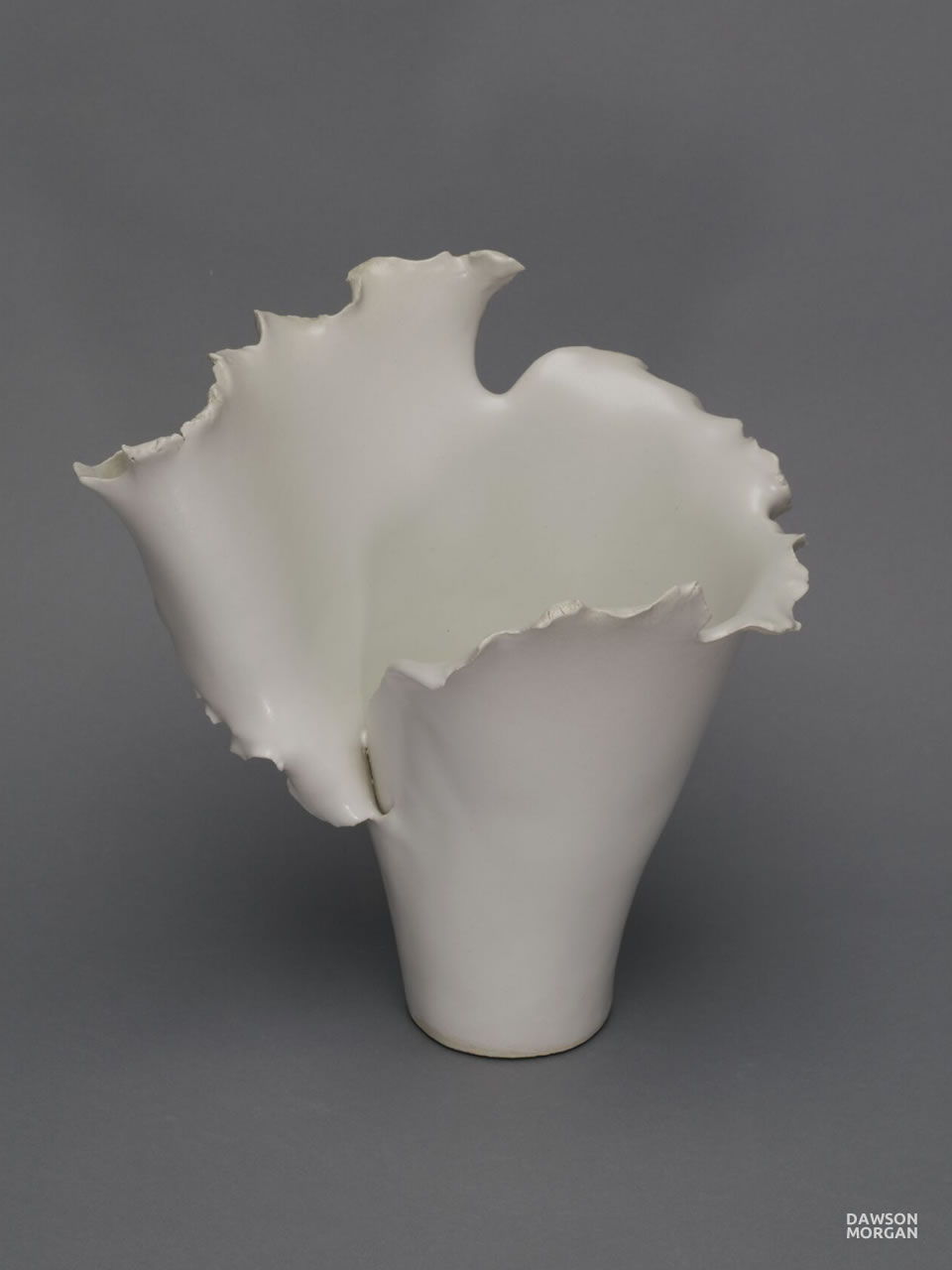Dawson Morgan White Ceramic Vase Medium