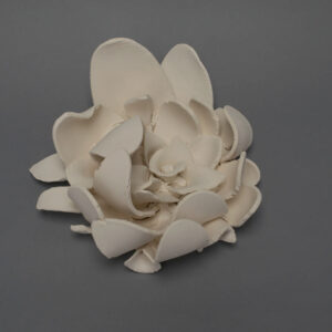 Dawson Morgan Wall Flower White Unfinished Large 12x12x5