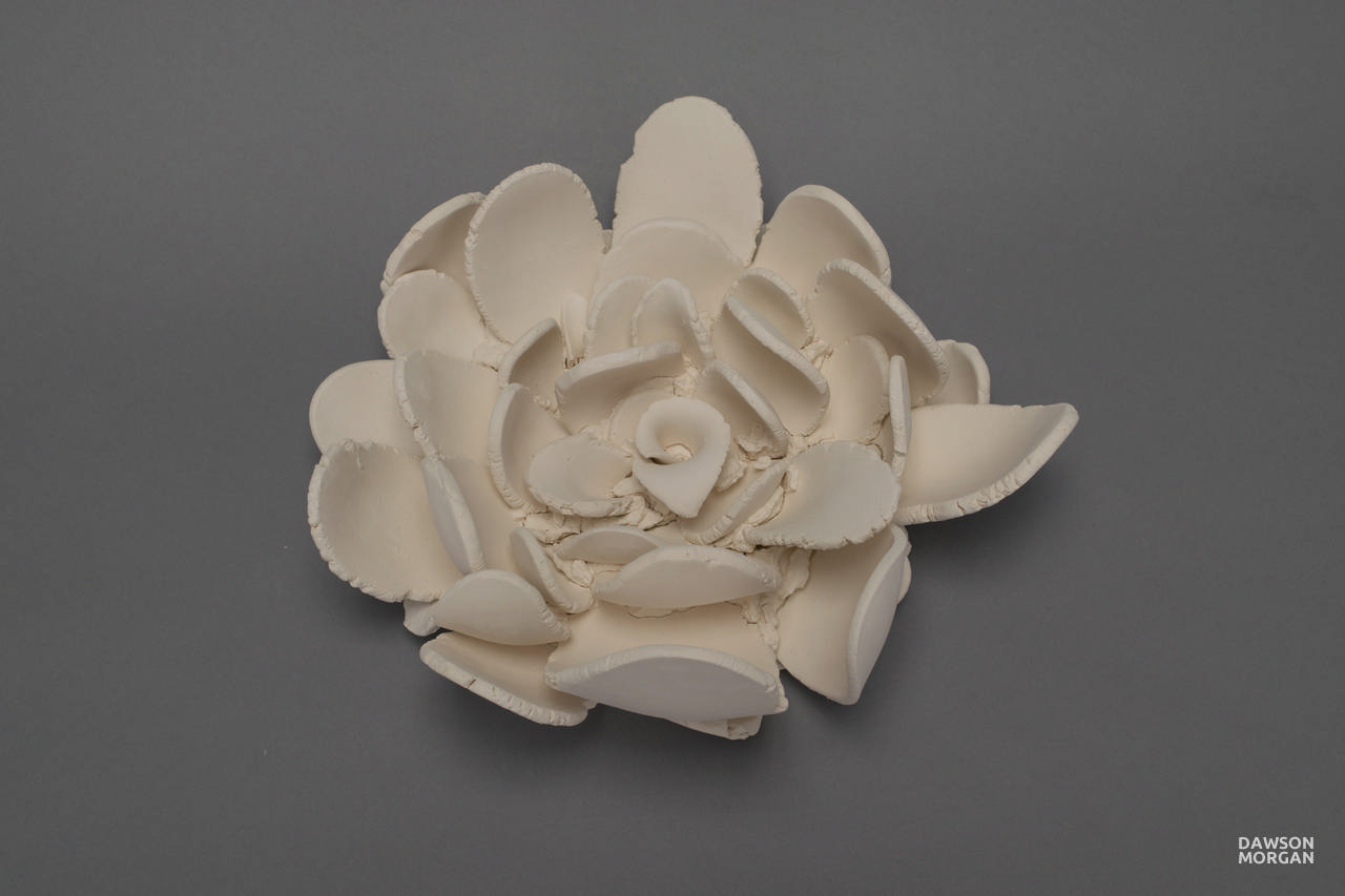 Dawson Morgan Wall Flower Unglazed Small Elegant 11x11x5