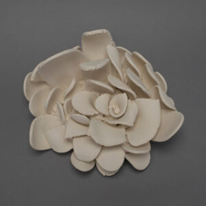 Dawson Morgan Wall Flower White Unglazed Small 11x11x6