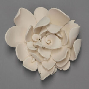 Dawson Morgan White Ceramic Wall Flower