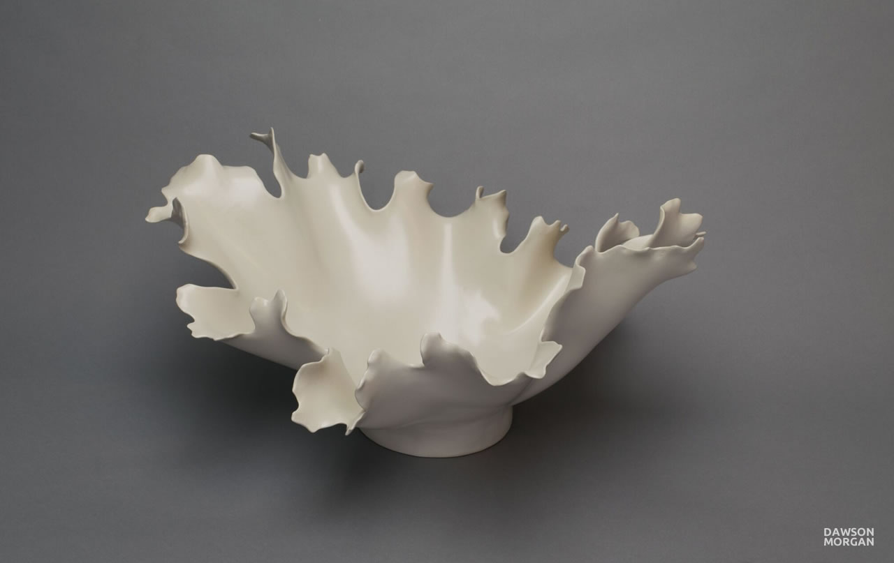 Dawson Morgan White Centerpiece Medium Oval 18x15x9